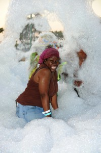 A me sey foam party!